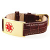 19mm Leather Bracelet With Gold Plated Tag