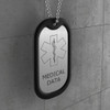 Stainless Steel Medical Dog Tag - Outline