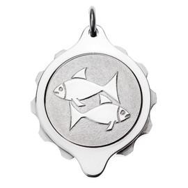 Stainless Steel SOS Talisman Pendant - Zodiac Pisces