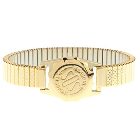 Gold Plated SOS Talisman Watch Style With 12mm Strap - Ladies Expandable