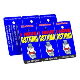 I Have Asthma Bag Tag / Key Fob