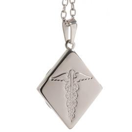 Stainless Steel Pendant - Diamond (inc. chain)