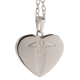 Stainless Steel Pendant - Heart (inc. chain)