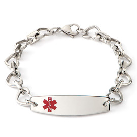 Heart to Heart Medical ID Engraveable Bracelet
