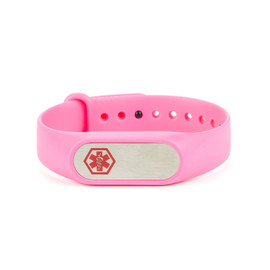 Adjustable Silicone Medical Bracelet with Tag