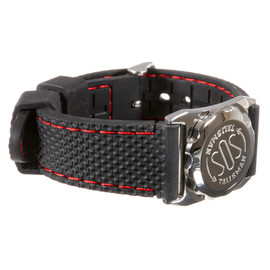Stainless Steel SOS Talisman Watch Style Silicone Strap - 18mm