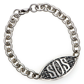 SOS Engraveable Bracelet with Round Chain