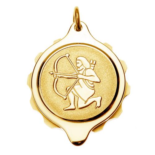 Gold Plated SOS Talisman Pendant - Zodiac-Sagittarius