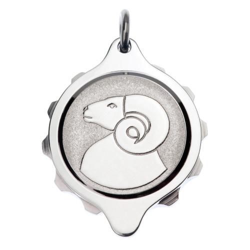Stainless Steel SOS Talisman Pendant - Zodiac Aries