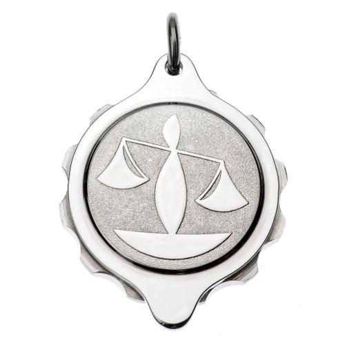 Stainless Steel SOS Talisman Pendant - Zodiac Libra