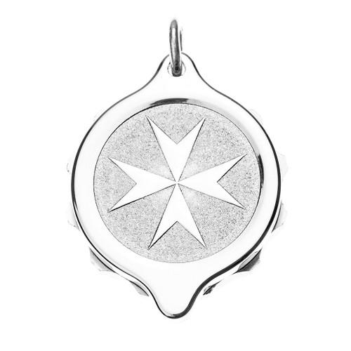 Stainless Steel SOS Talisman Pendant - St. John / Malta Cross