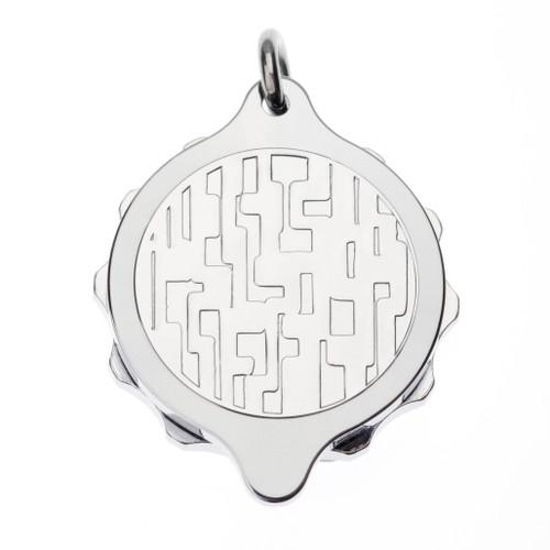 Stainless Steel SOS Talisman Pendant - Modern Design