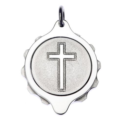 Sterling Silver SOS Talisman Pendant - Christian Cross