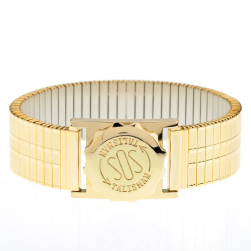 Gold Plated SOS Talisman Watch Style with 18mm Strap - Gents Expandable