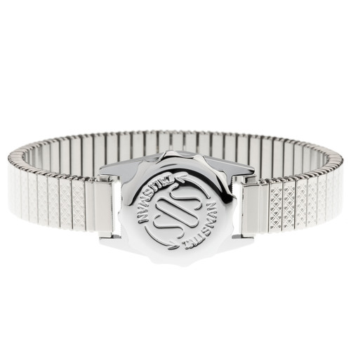 Stainless Steel SOS Talisman Watch Style With Stainless Steel Strap - 12mm Ladies Expandable
