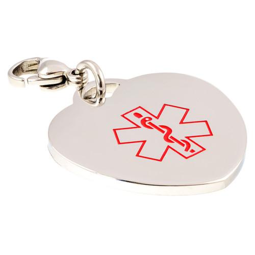 Slim Heart Engraveable Charm