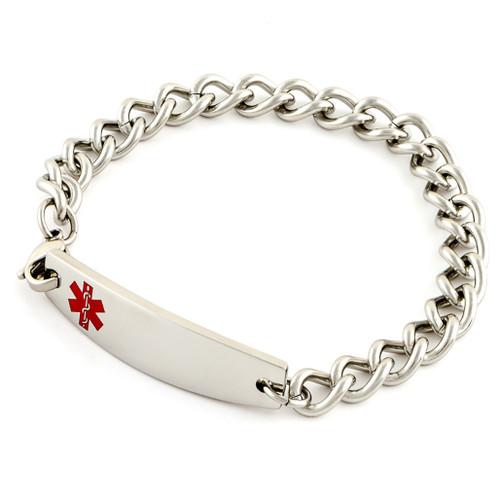 Medium Link Chain Medical ID Bracelet