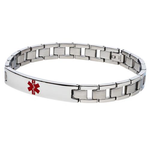 Slim Traditional Medical ID Bracelet