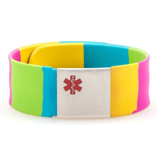 Rainbow Snapper Medical ID Bracelet