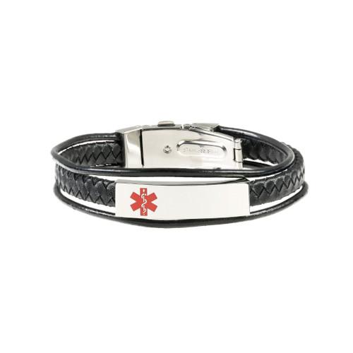 Triple Leather Corded Bracelet