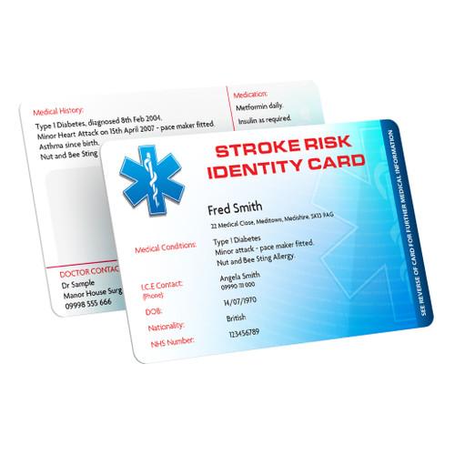 Stroke Risk Identity Card