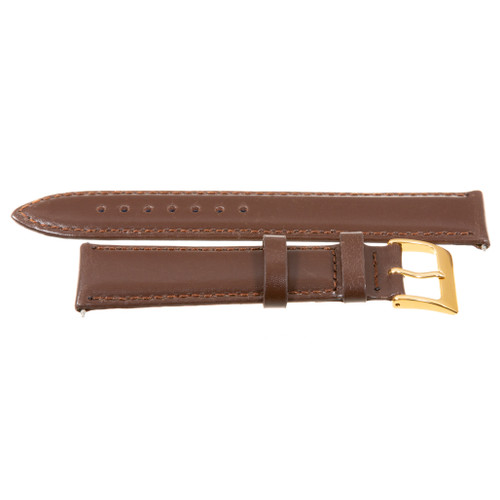 18mm Gold Plated Buckle Brown Nappa Polished Calf Leather