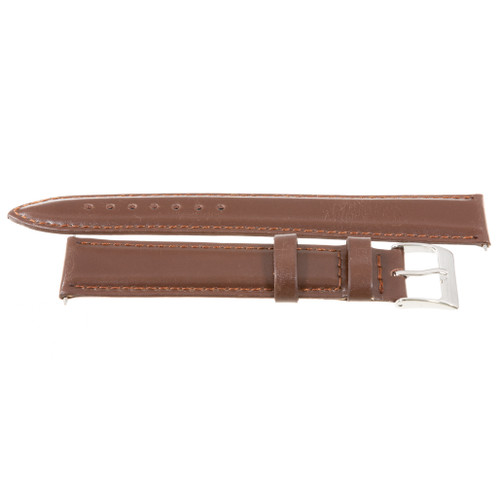 Extra Long 18mm Brown Nappa Polished Calf Leather