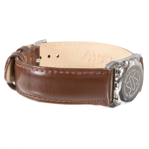 Extra Long SOS Talisman Watch Style Nappa Polished Leather Strap - 18mm