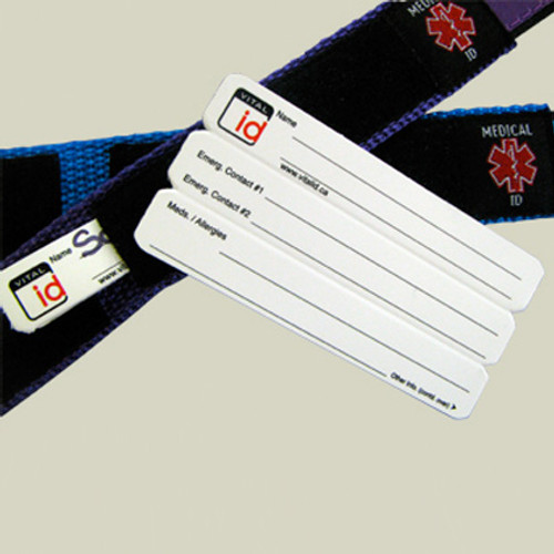 Spare Cards for Vital ID Velcro Wristbands (Pack of 4)