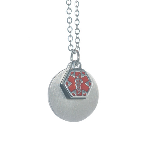 Small Round Engraveable Pendant