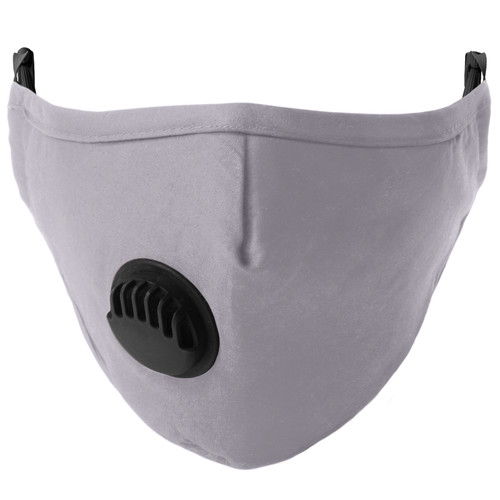 Reusable Washable Face Mask with Vent Grey