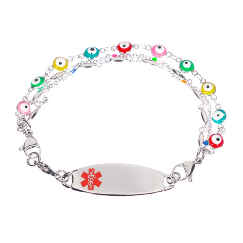 Colourful Triple Chain Bracelet