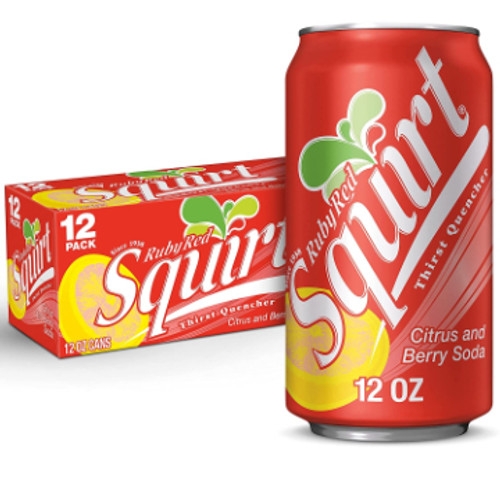 Ruby Red Squirt Soda 12 oz., 12 Pack