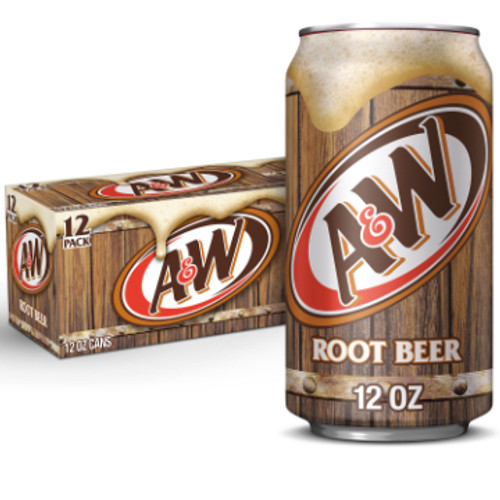 A&W Root Beer Soda 12 oz., 12 Pack