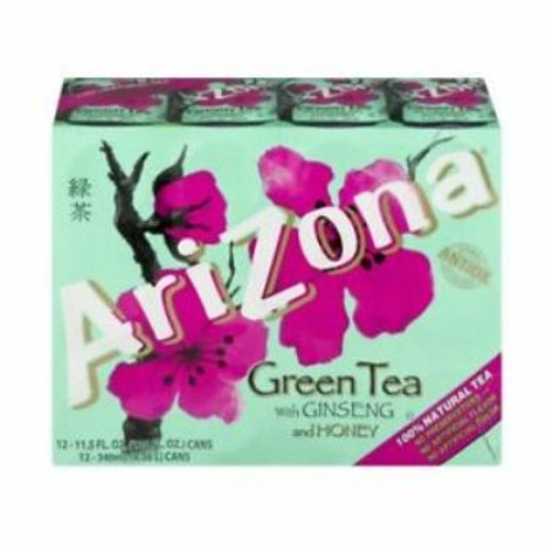 Arizona Green Tea With Ginseng & Honey 12 Pack, 11.5 oz. Cans
