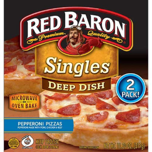 Red Baron Deep Dish Pepperoni Pizza 2 Pack, 11.2 oz.