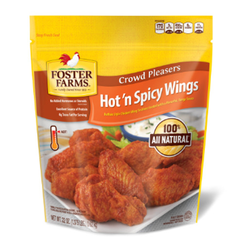 Foster Farms Hot N' Spicy Wings 22 oz.