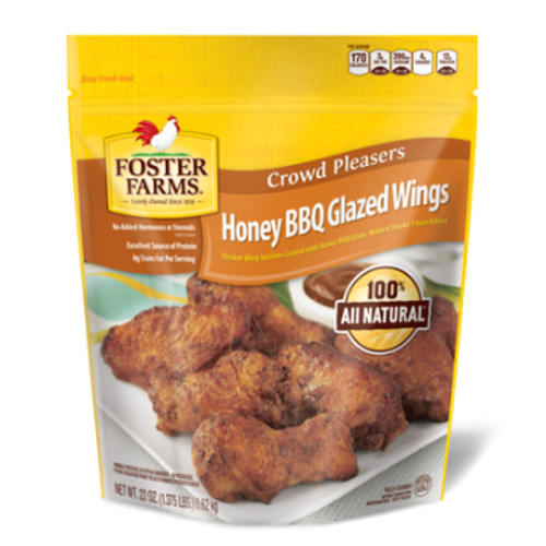 Foster Farms Fully Cooked Honey BBQ Glazed Wings 22 oz.