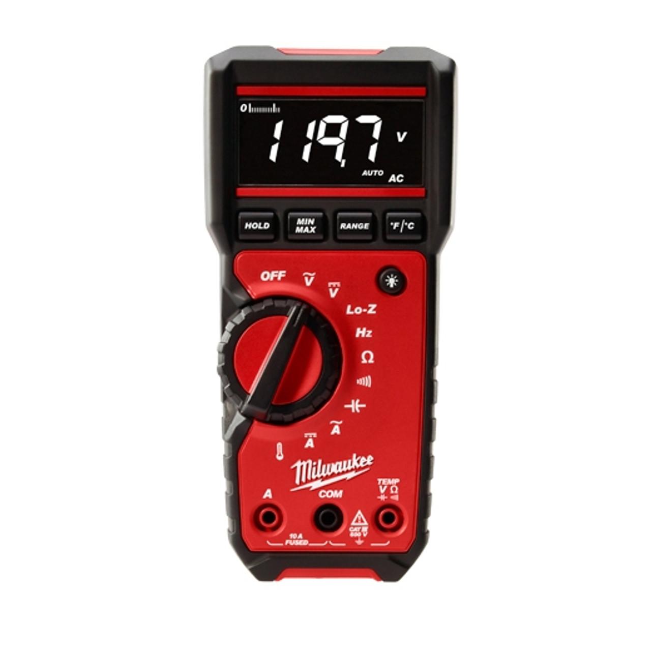 Milwaukee 2217-20 Digital Multimeter 6mV to 600V AC/600mV to 600V DC