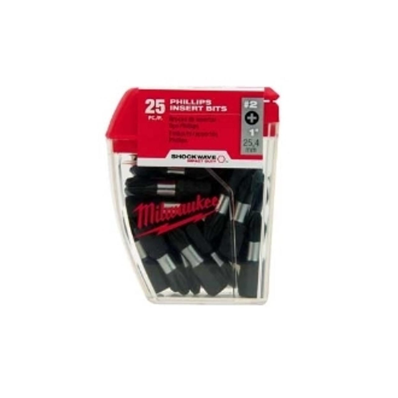 Milwaukee 48-32-4604 #2 Phillips 1 in. Insert Bit Contractor Pack