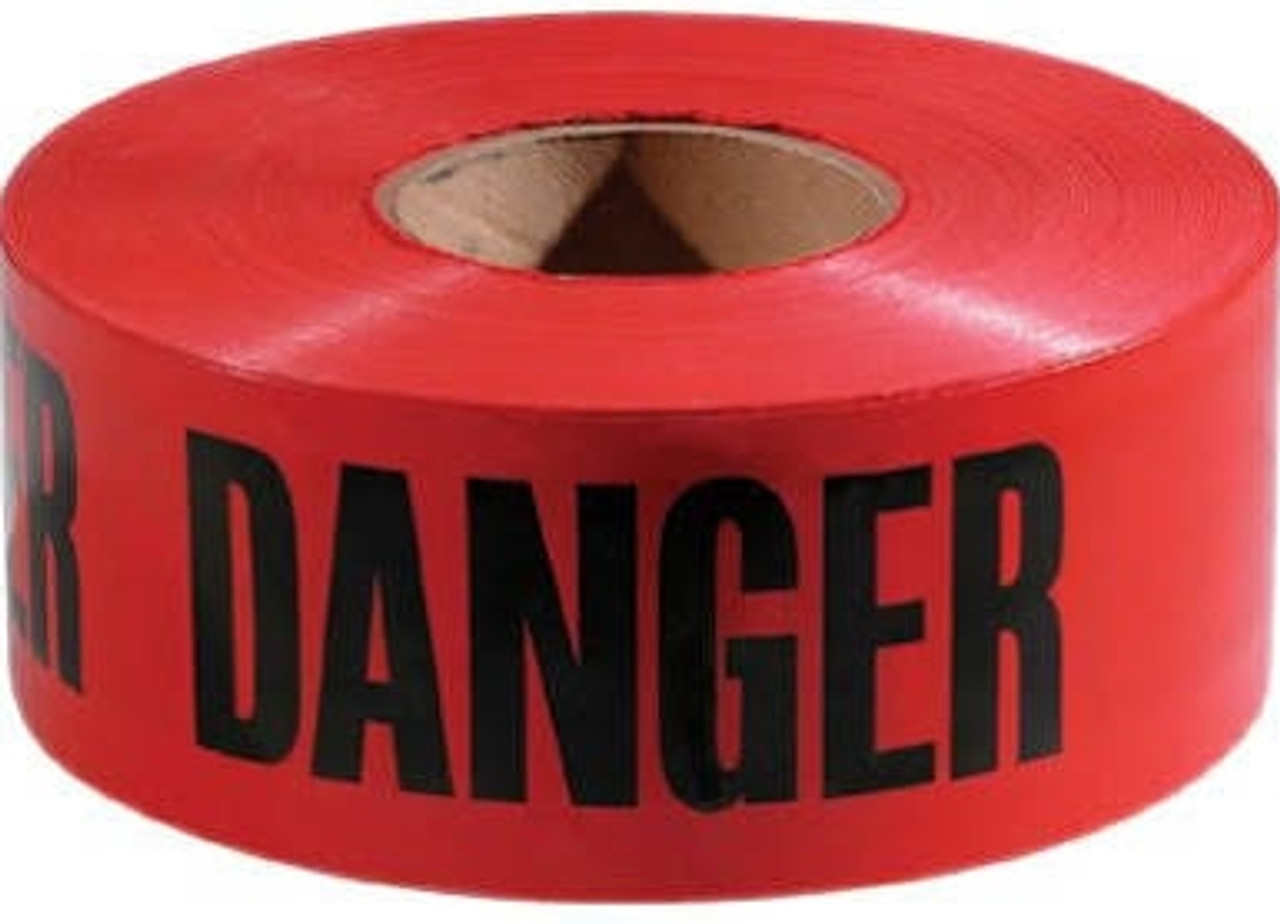 Empire 77-1004 Danger Safety Barricade Tape 3 in. X 1000 ft.