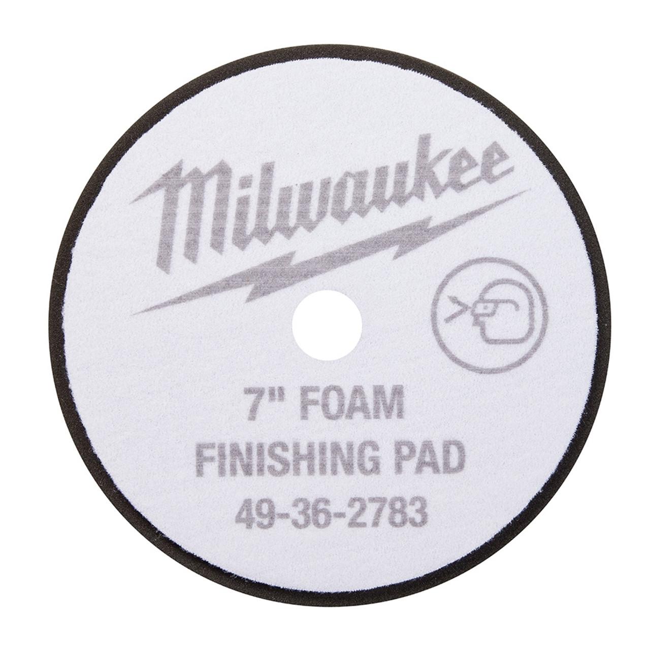 Milwaukee 49-36-5783 7 in. Black Foam Finishing Pad 5 Pack