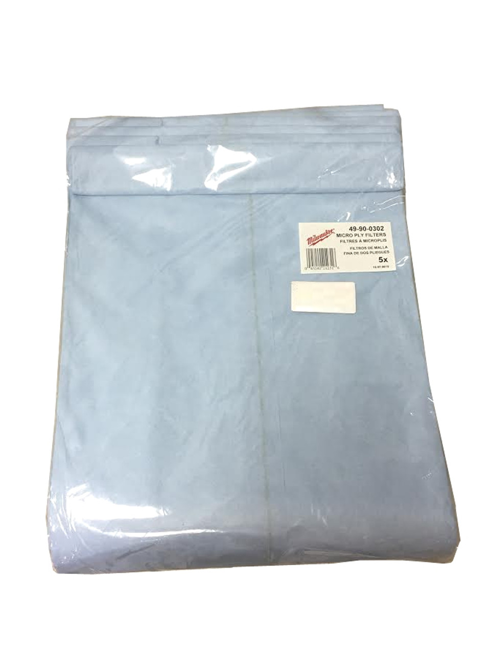 Milwaukee 49-90-0302 Paper Filter Bags (5 Bags)