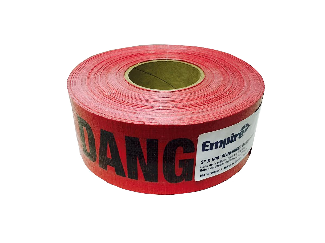 Empire 76-1004 Reinforced Danger Tape  Red 3 in. x 500 ft.