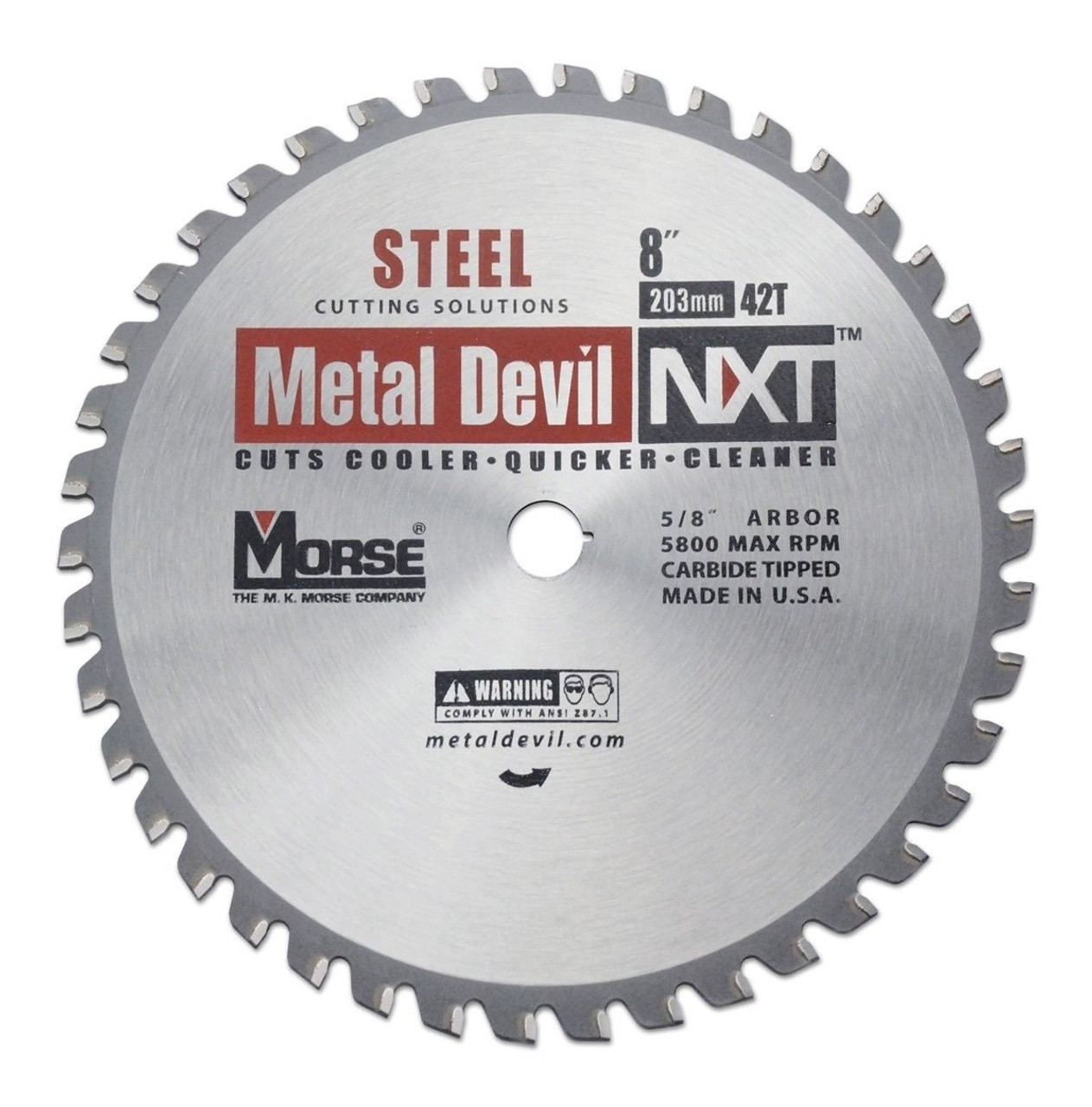 M.K. Morse CSM842NSC Metal Devil NXT 8 in. 42T Metal Cutting Blade