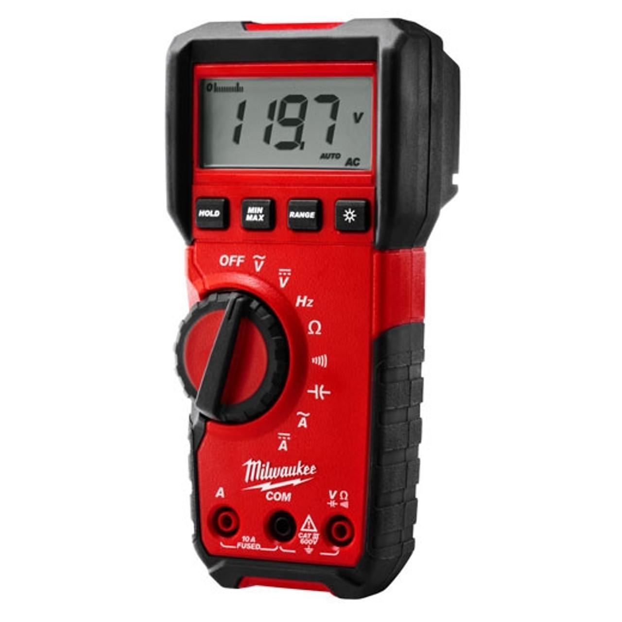 Milwaukee 2216-20 Digital Multimeter 600 ohm to 40 Mohm