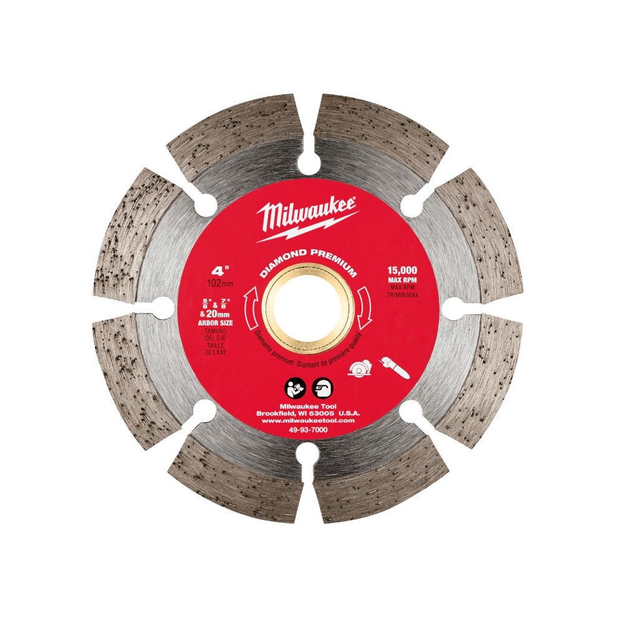 Milwaukee 49-93-7000 4 in. Diamond Premium Segmented Saw Blade
