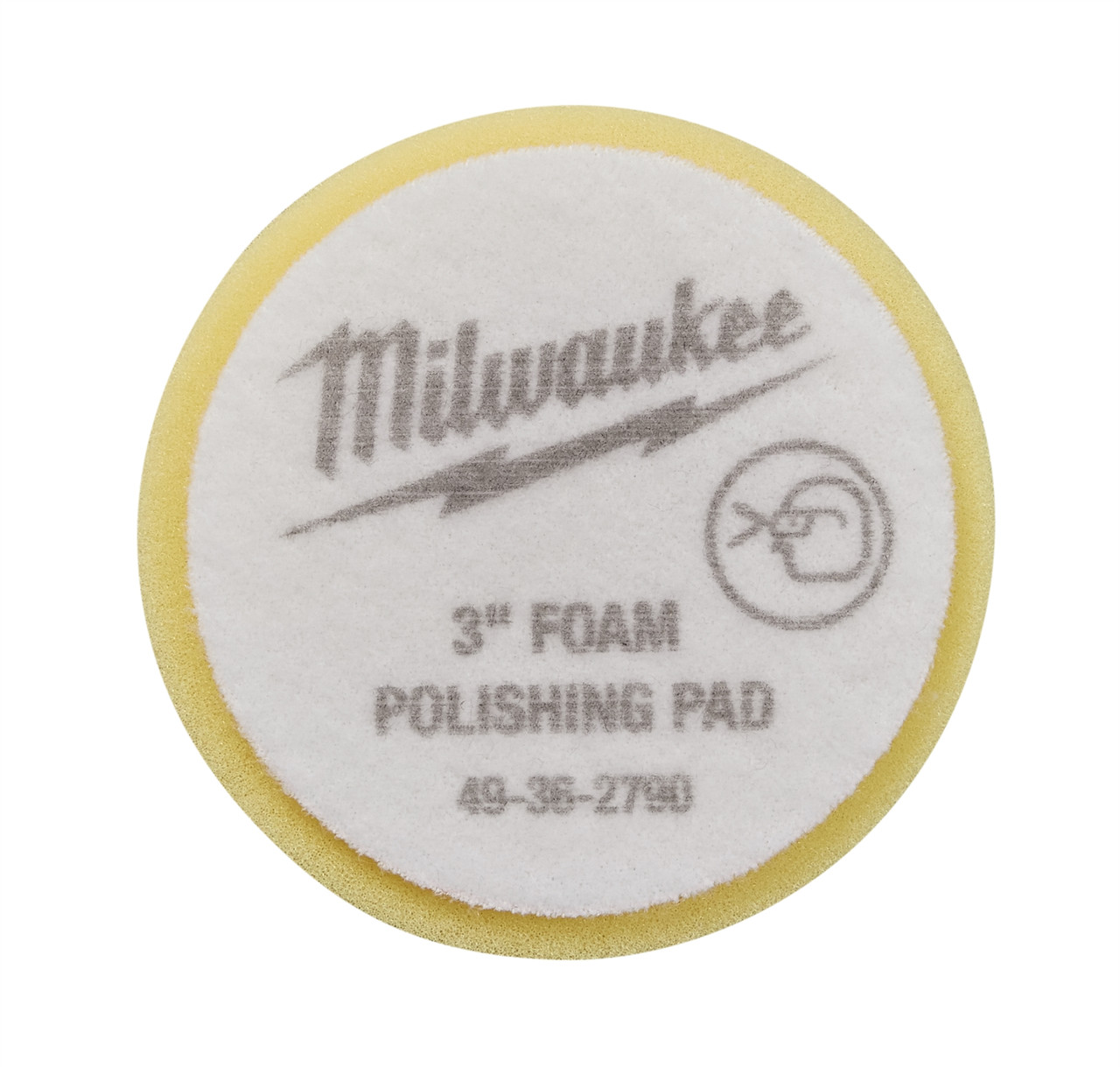 Milwaukee 49-36-2790 3 in. Yellow Foam Polishing Pad