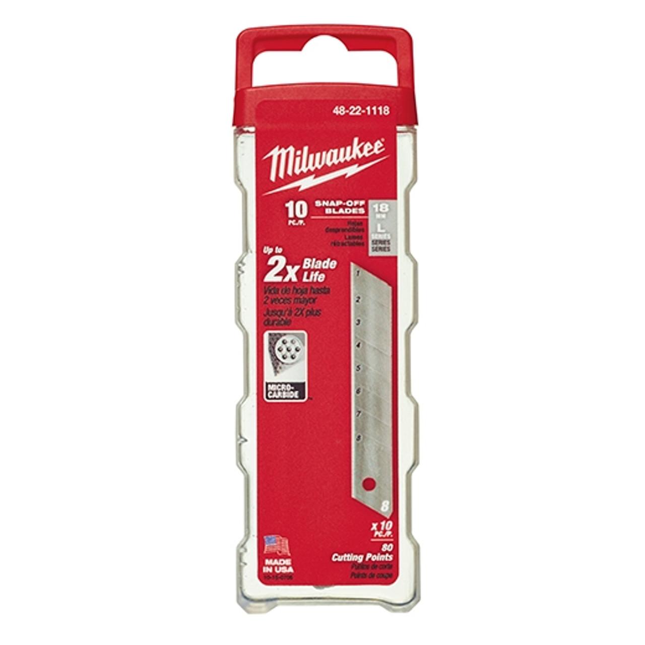 Milwaukee 48-22-1118 18mm General Purpose Snap Blades (10 PK)