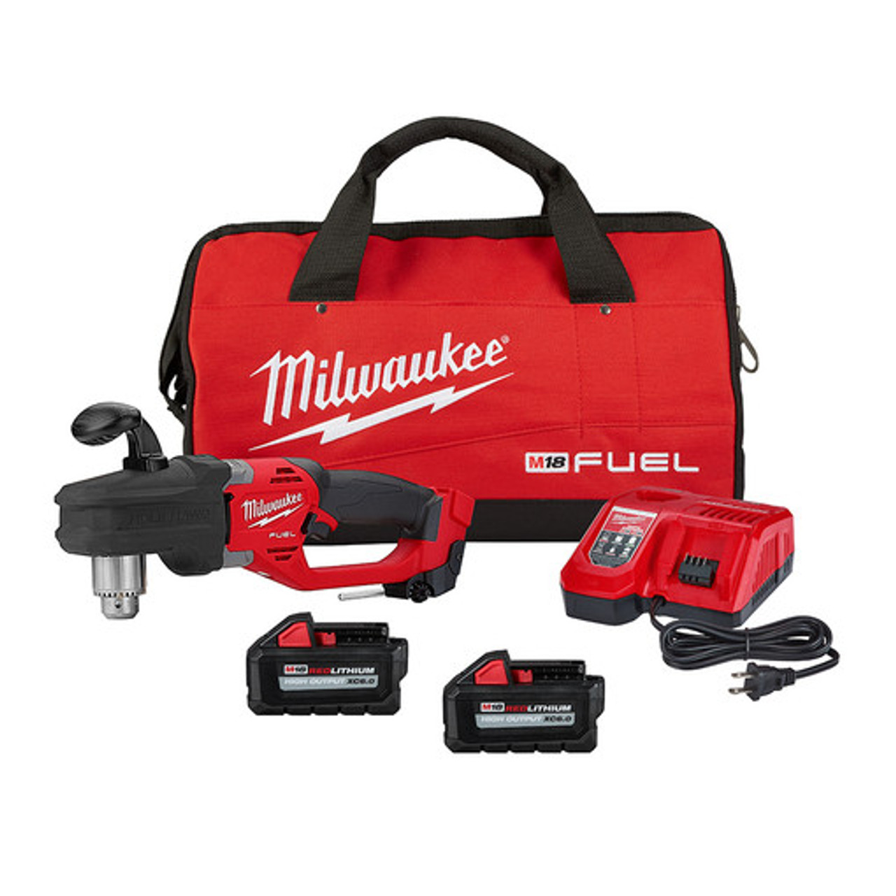 Milwaukee 2807-22 M18 FUEL HOLE HAWG 1/2 in. Right Angle Drill Kit